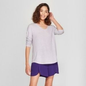 Women's Long Sleeve Cozy Knit Top - A New Day Lave